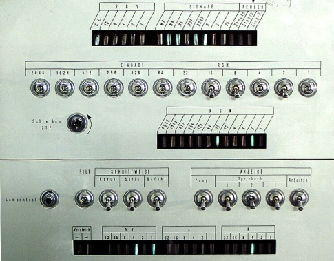 A part from the control panel